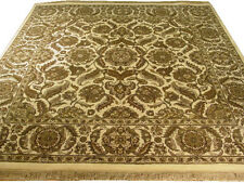 8 x 8 feet Square Authentic hand-knotted Traditional Rug Jaipur Fine Quality Rug
