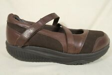 Skechers Shape Ups Brown Leather Mary Jane Rocker Toning Sneakers Shoes Womens 8
