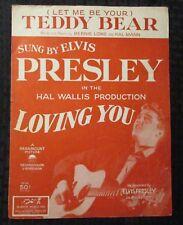 1957 Let Me Be Your TEDDY BEAR Sheet Music VG 4.0 Elvis Presley 4pgs