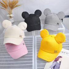 Kids Summer Baseball Cap With Ears Toddler Girls Adjustable Snapback Sun Hats