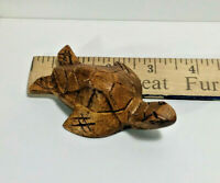 Small Hard Wood Turtle, Hand Carved, Made in Bali, Indonesia - Longevity - New