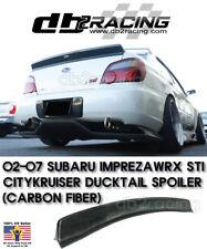 CityKruiser Rear Trunk Spoiler (Carbon) Fits 02-07 Subaru Impreza JDM DUCKTAIL