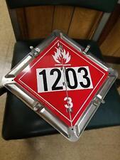 Aluminum Flip-File Placard 2-Legend Numbered Set 1202, 1203 Flammable