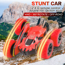 RC Stunt Remote Control Car 360°Flips Dual-Color Double Sided Rotating For Kids