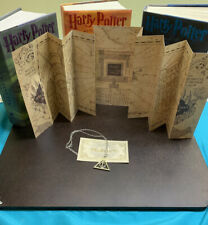 Harry Potter Marauder's Map with Deathly Hallow Necklace