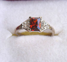 Very Pretty, Synthetic Garnet & CZ 14 K, HGP Ring