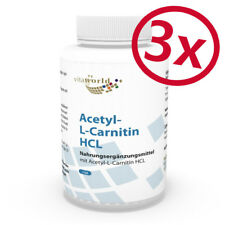 Vita World 3er Pack acetil-L-Carnitina HCl 1000mg per capsula - 3 x 120 capsule