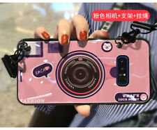 3D Camera Kickstand Glass Soft Case for iPhone X 8 7 6 6S Plus Samsung S8 S9+ S7