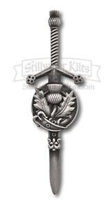 Deluxe Scottish Thistle KILT PIN by Stillwater Kilts
