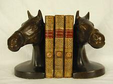 Serre-libri in bronzo Testata da cavallo Horse Head Reggilibri Buchstutz 15,7 cm