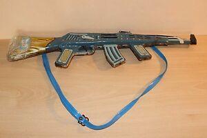 Vintage USSR Metal Toy AK 47 Gun Rifle Rare