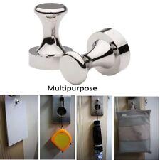 Neodymium Magnetic Coat Hooks Knobs Storage Holder Hanger Stainless Cabinet Home