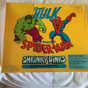 The Hulk Spiderman Shrinky Dinks new unopened