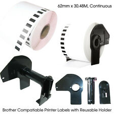 10 x Brother Compatible DK22205 Printer Label 62mm Roll + Holder QL550 560 570