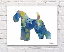 "Kerry Blue Terrier Abstract Watercolor 11"" x 14"" Art Print by Artist 