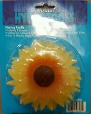 Pool Spa pond Floating Sunflower Candle garden party decoration new set of 2