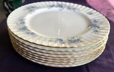 8 Royal Albert BLUE BLOSSOM Dinner Plates Fine Bone China Made in England 1988