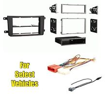 Car Stereo Radio Dash Install Trim Face Kit Combo for select CX-9 w/Special Wire