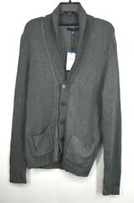Vince Camuto Mens Slim Shawl Collar Cardigan Sweater Button Front Long Sleeve