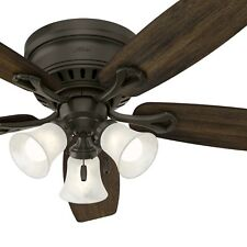 "52"" Hunter Fan Ceiling Fan with Light Kit and LED bulbs in New Bronze"