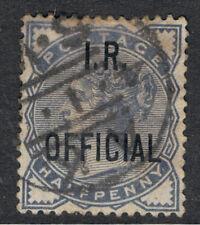 UNITED KINGDOM 1901 1/2d BLUE GREY QUEEN VICTORIA OVERPRINTED I.R