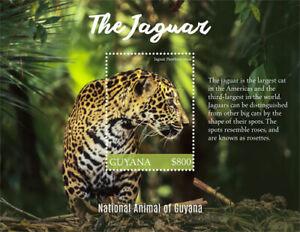 Guyana 2017 - Jaguar - National Animal of Guyana - Souvenir Sheet - MNH