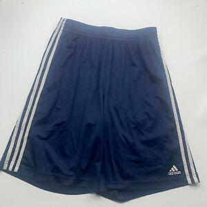 Adidas Shorts Adult Large Blue Lightweight Basketball Gym Mens U200