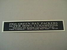 Green Bay Packers Super Bowl 1 Nameplate For A Football Jersey Case 1.5 X 8