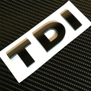 BLACK TDI Badge For MK4 MK5 MK6 TDI GT GTD TURBO **NEW** Aftermarket