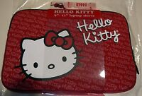 """*NEW* Hello Kitty 9""""-10"""" inch Laptop/Netbook Sleeve/Case Red/White KT4311RW"""