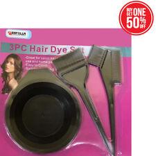 Hair Dye Color Brush Bowl Combo Coloring Brush Kit 3 pcs Set Tint Tool Bleach