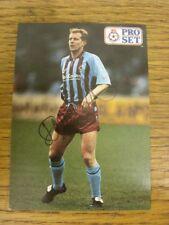 1992 Autographed Trade Card: Scunthorpe United - Hill, David [Pro Set]. Bobfrank