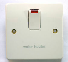 MK 20A DP Water Heater Switch K5423 WH WHI White with Neon
