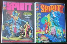 The Spirit magazine lot from:#1-34 (last issue) 18 diff avg 6.0 FN (1974-83)