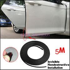 16FT/5M Black Moulding Trim Rubber Strip Car Door Scratch Protector Edge Guard