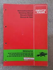DEUTZ FAHR COMBINE WORKSHOP MANUAL
