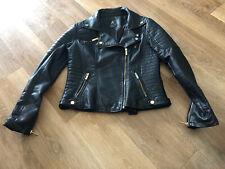 Leather Look Black Womens Short Jacket Size 10