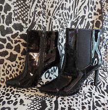 Marks & Spencer Limited Edition NEW Black Patent Stiletto Ankle Boots, size 3.5