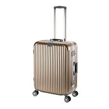 24'' Gold Luxury Aluminum Frame Travel Luggage 4 Wheels Cabin Trolley Suitcase