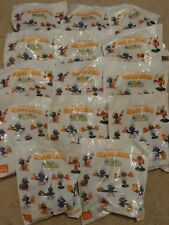 14 X THE SMURFS MCDONALDS HAPPY MEAL FIGURES TOYS SEALED PACKET & 2 X BOXES 1998