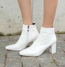 Women's Ankle Boots Block Heel Square Toe Shoes Outdoor Fashion Solid 45/46/47