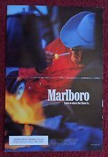 1992 Print Ad Marlboro Man Cigarettes ~ Western Cowboy Red Shirt at Dusk