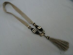 Twine & Twig Bead & Horse Hair Tassel Necklace