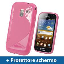 Rosa Custodia TPU Gel per Samsung Galaxy Ace 2 I8160 Android Case Cover Rigida