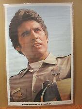 "vintage ""CHIPS"" Erik Estrada as Ponch Poncheerello police biker Poster   6367"