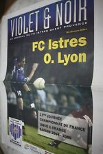 VIOLET & NOIR PROGRAMME )) FC ISTRES V LYON OL )) saison 2004/2005