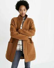 NWOT MADEWELL Women's Camel Estate Wool Cocoon Coat Jacket Size Large