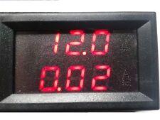 Einbau Voltmeter und Amperemeter digital Messbereich 0-99,9V DC Gleichspannung