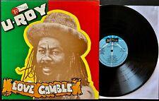 U-ROY Love Gamble EX / VG+ Jamaican Import LP - ERROL THOMPSON Engineer