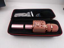 Bonaok Wireless Bluetooth Karaoke Microphone Controllable Led Lights Q78(B5)